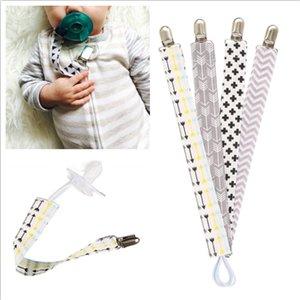 4pcs / set del bebé Chupete Chupete Clips Cadena Algodón Chupete Chupete Chupete Holder Chupetas clips de la correa del pezón sostenedor para la Alimentación del Lactante bebé