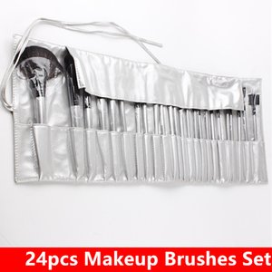 High Quality 24pcs Makeup Brushes Sets Cosmetics Make Up Brush Set Kit pinceaux de maquillage With PU Bag Packing DHL Free Shipping