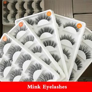 5Pairs box Mink Hair False Eyelashes Natural Cross Long Cilia Handmade Fake Eye Lashes Make up Beauty Extension Tools 5 Styles