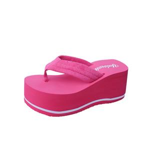 VOGELLIA новые летние женщины высокие каблуки Клин тапочки коренастый пляж шлепанцы туфли на платформе для женщин слайды обувь