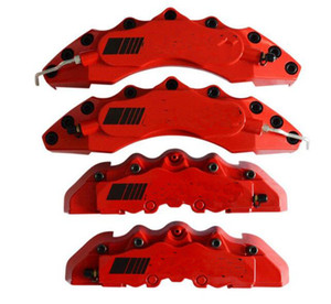 4x anpassen Red Bremssattel abdeckung kit Schwarz etikett für Auto Klasse C A B E Bremse Styling Dekoration 4 teile / los