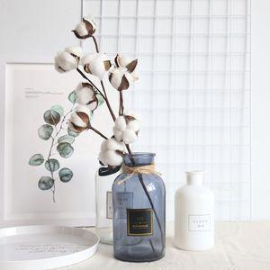 53 cm Artificielle blanc coton fleur branche simulation fleur mariage décoration cuisine accessoires parti fournitures décoration