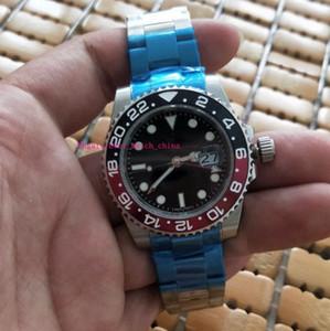أعلى جودة مصنع فاخر مؤشر الطلب الأسود 40 مم أسود أحمر السيراميك الحافة - 116719 رجل نموذج التلقائية الميكانيكية ساعات رجالية ووتش