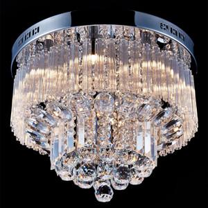 Moderne K9 Crystal Raindrop Chandelier Éclairage Encastré de Montage LED Plafonnier Luminaire Suspension pour Salle À Manger Chambre Avec 9 G9 Ampoules