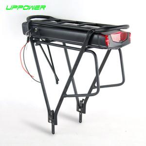 US UE No Tasse bicicletta elettrica 36V 10Ah 13Ah posteriore Rack Batteria per Bafang BBS01 BBS02 eBike batteria + doppio strato Portapacchi