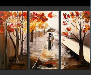 Natural Scenery Ölgemälde Handmade auf Leinwand Herbst Baum Landschaft Gemälde Acryl Tapete Szene Home Decor Wall Art