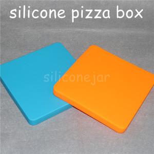 200ml Silikon quadratische Neuheit Wachsbehälter für Wachs Dabber Pizza Konzentrat Jar Silikon Benutzerdefinierte flache Silikon Quadrat Container Glas zu CCBN