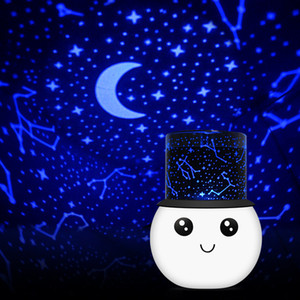 Kardan adam projeksiyon lambası karikatür USB şarj romantik starlight uyku LED gece lambası Noel tema hediye mobilya bahçe dekorasyon