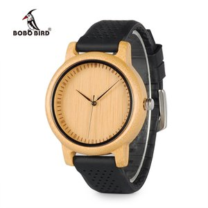 BOBO BIRD Women Watches Ladies' Luxury Bamboo Wood Timepieces Silicone Straps relojes mujer marca de lujo Great Gifts for Girls Y18102310