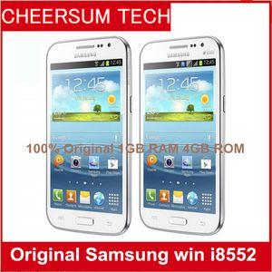 Toptan Unlocked Orijinal Samsung galaxy win I8552 telefon yenilenmiş Android 4.1 Wifi GPS 3G 4.7 '' Dört Çekirdekli 1 GB RAM 15 adet DHL