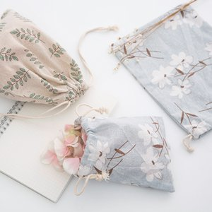 Baumwolle und Hanf Kordelzug von kleinen Stoffbeutel Segeltuchtasche Unterwäsche, verschiedene Tasche.
