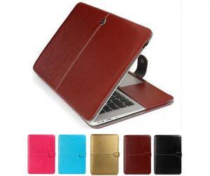 Couro de negócios inteligente coldre luva protetora saco case capa para novo macbook air pro retina 11.6 12 13.3 15.4 polegada laptop saco protetor