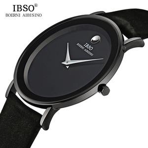 IBSO 7MM Ultra Slim Mens Relógios Genuine Leather Strap Moda Quartz Relógio Men 2017 Waterproof Relogio Masculino