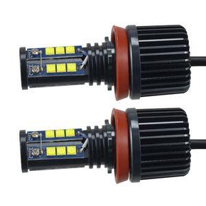 2PCS 120W H8 كري LED عيون الملاك سيارة LED هالو حلقة علامة ضوء لمبات 6500K-7500K الأبيض خالية من الأخطاء لBMW CLT_628