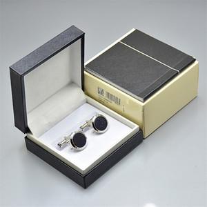 camisa 4 cores de alta qualidade Luxur Homens casados Abotoaduras preço de atacado ligações de cobre presente punho com Box