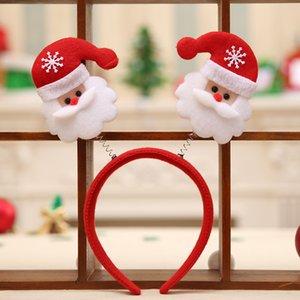 Рождество оголовье головы обруч Санта-Клаус Снеговик Xmas партия декор двойной волос группа Застежка головы обруч Рождество оголовье