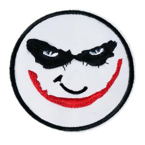 8 CM Bordado Palhaço Palhaço Remendo Ferro Em Crachá Máscara Para O Saco de Calça Jeans Chapéu Apliques DIY Handwork Etiqueta Decoração Vestuário Acessórios