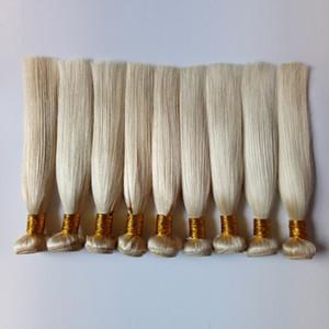 유럽 처녀 인간의 머리카락 weaves 금발 # 613 두 번 weft 인도 페루어 remy 머리 브라질 3 4 5 연속되지 않은 스트레이트 인간의 머리카락