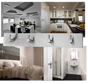 3M autoadhesivo acero inoxidable libre de taladro ganchos de la pared para baño cocina sala de estar 1 unids barco de la gota