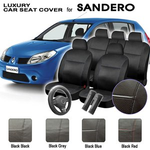 Sandero Luxury Universal Set completo de cuero sintético Car Automobile Interior Accessories Nice Car Seat Cover