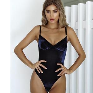 Retro Cor Sólida Um Pedaço Swimsuit Verão Natação Backless Beachwear Velvet Swimwear Mulheres Maiô Swiming Wear