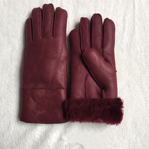 Free Shipping - High Quality Ladies Fashion Casual Leather Gloves Thermal Gloves Women's wool gloves in a variety of colors