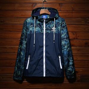 Marca Designer Mens Jaquetas Outono Casaco de Proteção do Sol de Alta Qualidade Fina Blusões Esporte Ao Ar Livre Jaqueta de Camuflagem Streetwear