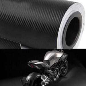 30x200cm Motocicleta 3D Fibra de carbono Vinyl Car Wrap Wrap Wrap Roll Pegatinas de película Calcomanía Estilismo Auto Motorbike Motocicletas Accesorios