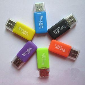 الجملة قارئ بطاقة ذاكرة الهاتف المحمول TF قارئ بطاقة صغيرة متعددة الأغراض عالية السرعة USB قارئ بطاقة SD