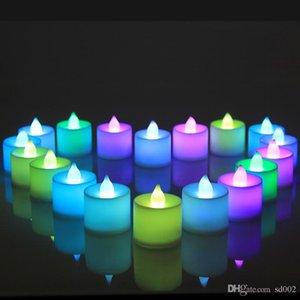 LED Light Bougie Colorful Simulation Candela elettronica per decorazioni per matrimoni Ornament Articoli Novità Regali artigianali Riutilizzabili 1 9hf ZZ