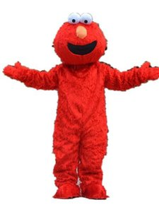 2018 High quality hot Red Elmo Mascot Costume Halloween Costumes Chirstmas Party Adult Size Fancy Dress Free Shipping