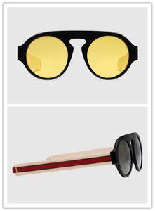 새로운 패션 디자인은 남성 2156 retor 라운드 프레임 다채로운 UV400 렌즈 인기있는 여름 보호 안경 선글라스