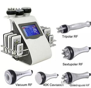 Haute qualité 6 en 1 laser ultrasonique de radiofréquence Lipo de vide de cavitation amincissant la machine pour l'expédition rapide de CE / DHL de station thermale