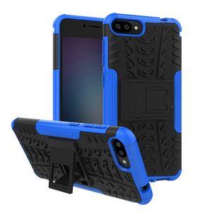Für Asus Zenfone 4 Selfie ZD553KL Das Zenfone Max Plus ZB570TL-Gehäuse Hybrid-Standfuß Robustes, robustes TPU + PC-Gehäuse mit stoßfester Rüstung