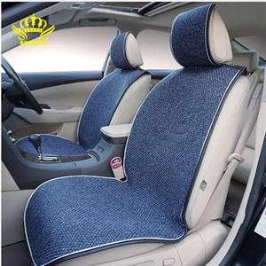 ROWNFUR новое прибытие 1шт универсальный автомобиль на сиденья для передних сидений четыре сезона лен чехлов интерьера Seat защищать подушка