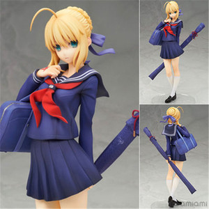 Um brinquedo Um sonho Anime ALTER Fate Stay Night School Uniform Saber marinheiro roupas H18cm Sexy Girl Kawaii Coleção Toy Modelo