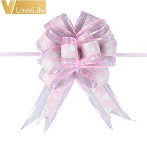 10pcs envoltura de regalo envoltura de cinta cintas de arcos brilloso envoltura de organza accesorio para regalos, arcos, cestas, decoración de botellas de vino