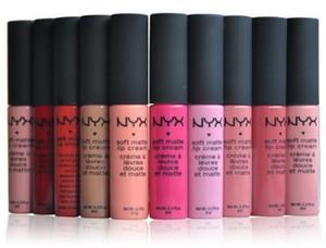 NYX Makyaj 12 Renkler Mat Lipstic Krem Büyüleyici Uzun ömürlü Günlük Parti Marka Parlak Makyaj Ruj nyx Kozmetik Gerçek Fotoğraflar Stokta