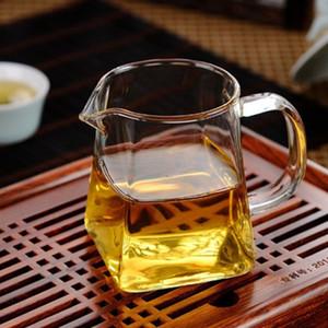 Площадь Bottom стекла Чайник Цветок Чайник Набор Толстой Чашки кофе Пуэр Teaset Удобный Устойчив Прочный комплект чай Promotion