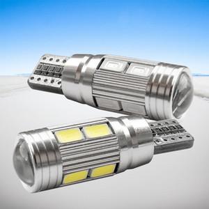 2 x t10 LED W5W voiture LED lampe automatique 12V ampoules avec objectif de projecteur pour Ford Focus 2 3 Fiesta Mondeo ECOSPORT KUGA DRL
