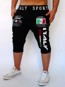 HaiFux Shorts Mens Tights Compression Bermuda Short Italia Printing Design Hombres Homme Shorts SUWOP