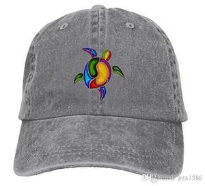 Schildkröte-Meeresschildkröte-Baseballmützen Retro flache Hüte für Studenten
