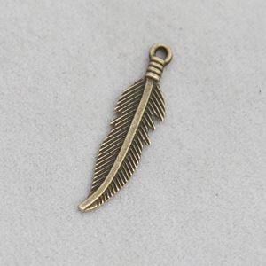 Atacado Moda Vintage encantos Feather liga Bangle 6 200pcs * 27mm / lot AAC1206