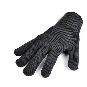 قفازات السلامة تنفس في الهواء الطلق العمل والدليل على زوج من القفازات المضادة للقطع قطع الأيدي حامي أسود أبيض اللون A252