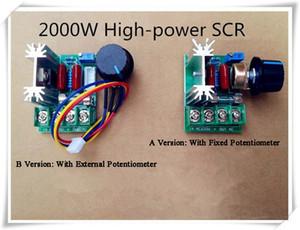 High Power Voltage Regulator elettronico 2000W regolabile Dimming dimmer per lampade Velocità Tensione Temperatura di controllo con fusibile