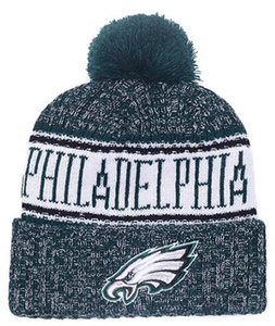 I più venduti beanie PHI beanie Philadelphia Sideline Cold Weather Cuffie Reverse Sport Knitted con pom Winer Skull Caps 00