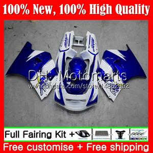 Cuerpo para SUZUKI RGV250 VJ21 88-89 RGV250 88 89 Carenado 35MT11 Azul blanco RGV-250 VJ 21 Carrocería RGV 250 1988 1989 89 Kit de carrocería Fairing
