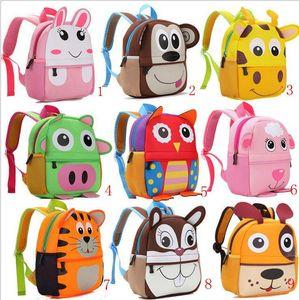 Niedlichen Tier Design Rucksack Kleinkind Kind Neopren Schultaschen Kindergarten Cartoon Bequeme Tasche Giraffe Affe Eule