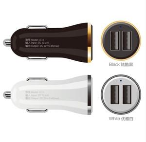 2 de salida USB cargador de coche 2.4A max (real) de carga rápida para Iphone 6S 6 Plus SE para teléfonos móviles Samsung S5 S6 S4 tabletas CALIENTE