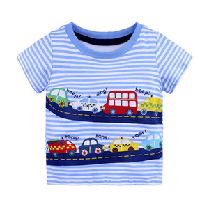 Children T shirts for Boys Clothes Baby Boys Summer Tops Tee Shirts Fille Animal Print Kids T-shirts Boy Clothing